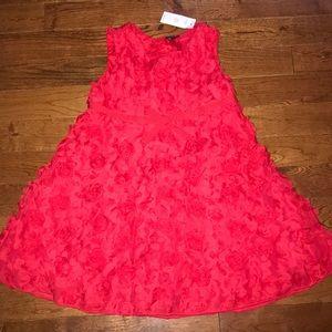 Baby Gap Red Rosette Bow Dress